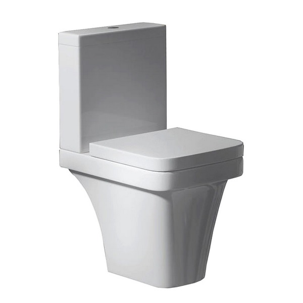 QX Aston Elevated Height Close Coupled Pan With Cistern And Soft Close Seat