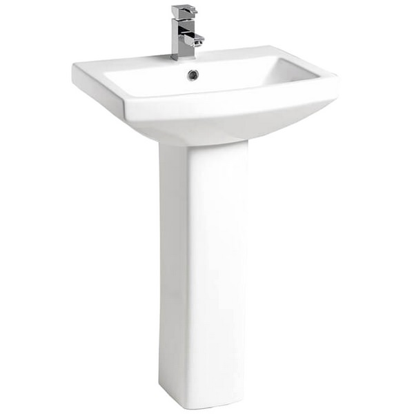 QX Nevada 550 x 450mm Basin And Pedestal