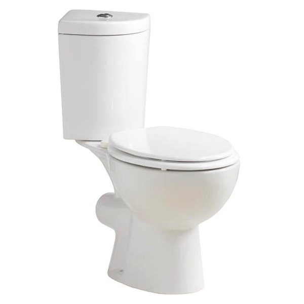 QX Solo Corner Close Coupled Pan With Soft Close Seat And Cistern