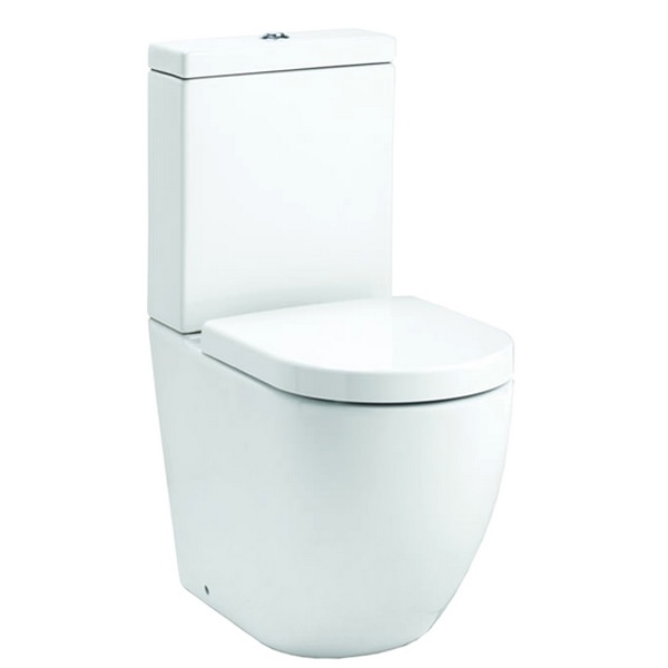 QX Opal Short Projection Close Coupled Pan With Soft Close Seat And Cistern