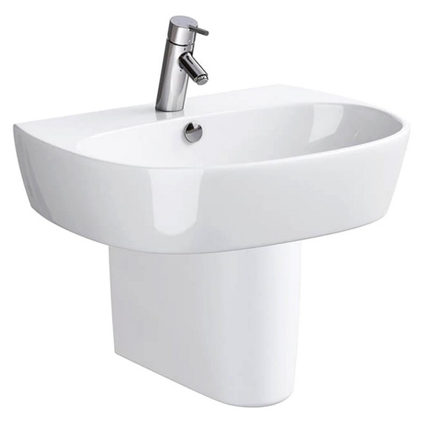 QX Street Fusion 500 x 400mm Basin With 1 Tap Hole