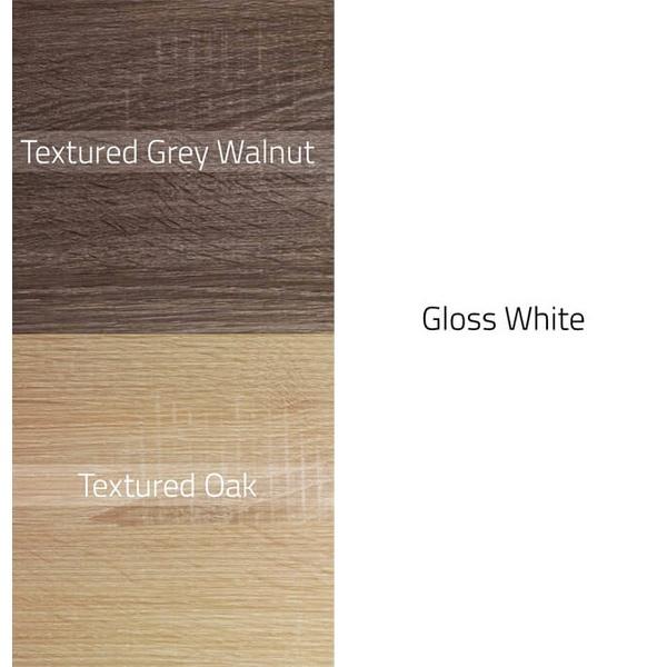 Alternate image of QX Eden 3 Door Mirrored Cabinet 1200mm - Textured Oak