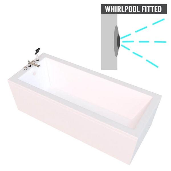 QX Montana 1500 x 700mm Bath With Option 3 Whirlpool System