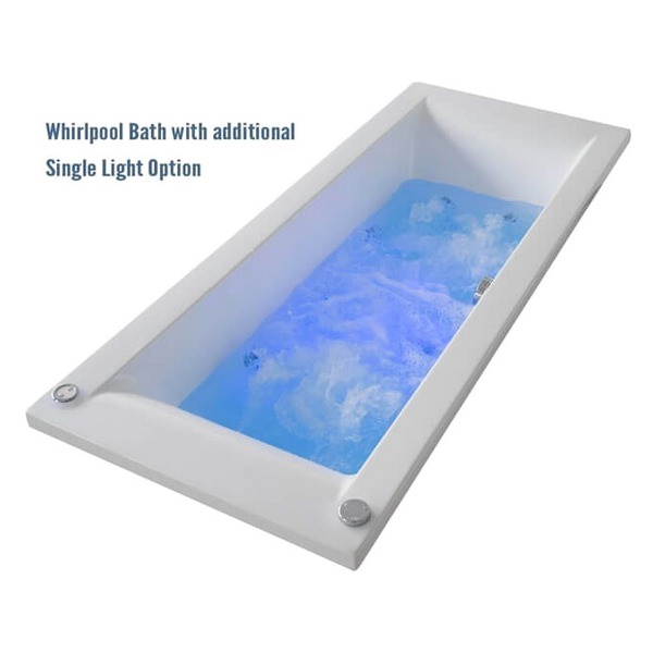 Alternate image of QX Montana 1500 x 700mm Bath With Option 3 Whirlpool System