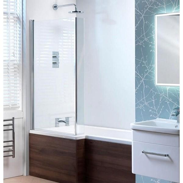 QX Vermont 800 x 1400mm Shower Bath Screen Only