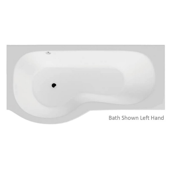 Alternate image of QX California 1700 x 700mm Left Hand Shower Bath With Option 4 Whirlpool System