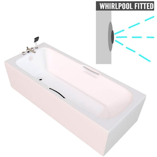 QX Virginia 1700 x 700mm Twin Gripped Bath With Option 1 Whirlpool