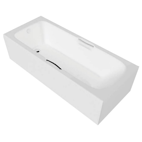 Alternate image of QX Virginia 1700 x 700mm Twin Gripped Bath With Option 1 Whirlpool