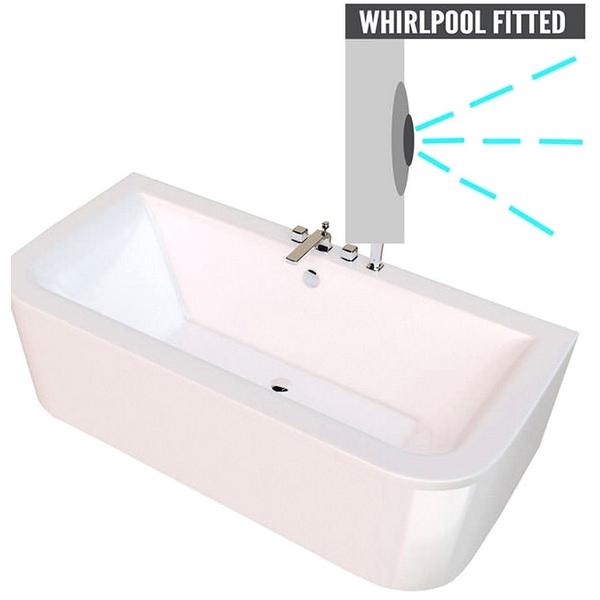 QX Kansas 1700 x 750mm Bath With Option 1 Whirlpool