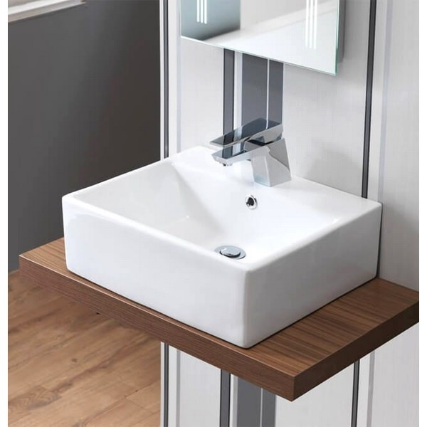 QX Portland 470 x 400mm Vanity Basin With 1 Taphole