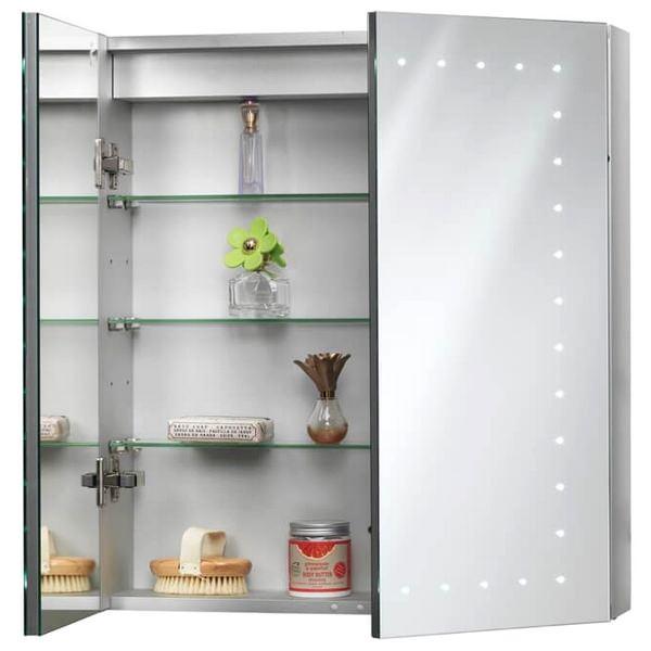Alternate image of QX Pileus 600 x 650 x 140mm 2-Door Mirrored Cabinet
