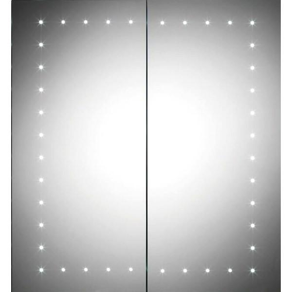 QX Pileus 600 x 650 x 140mm 2-Door Mirrored Cabinet