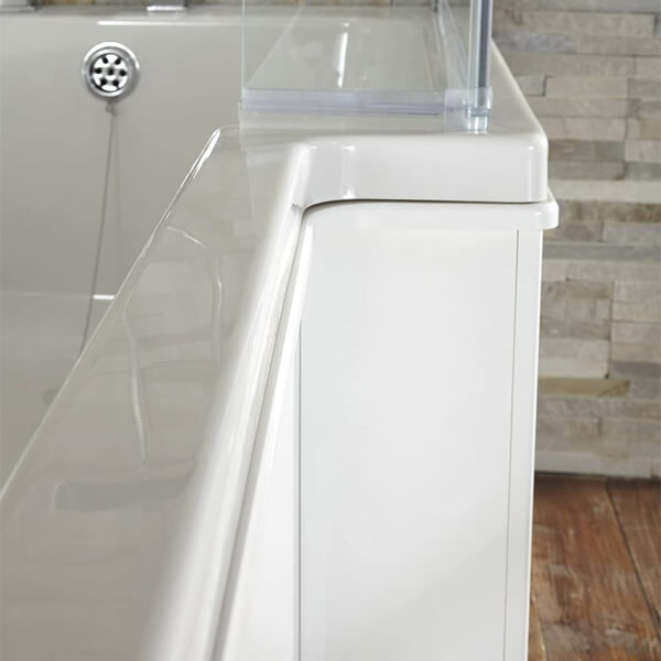 Alternate image of Frontline Blok White Acrylic Shower Bath Front Panel 1500mm - More Sizes Available