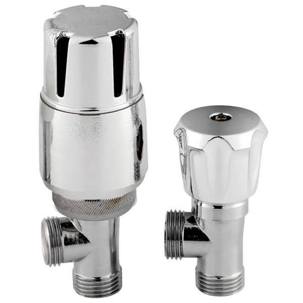 Frontline Angled Thermostatic Lockshield Radiator Valves