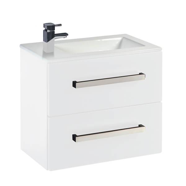 Frontline Aquatrend 550 x 330mm 2 Drawer Wall Hung Vanity Unit And Basin