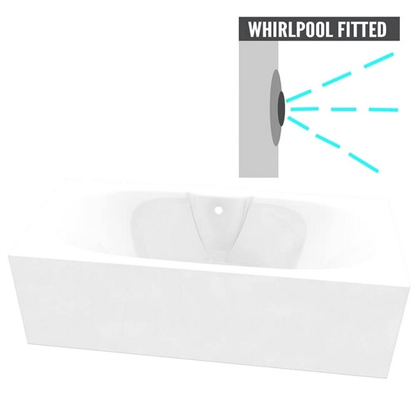QX Nebraska 1700 x 750mm Superspec Bath With Option 4 Whirlpool