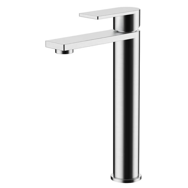 Frontline Strand Tall Basin Mixer Tap With Click-Clack Waste