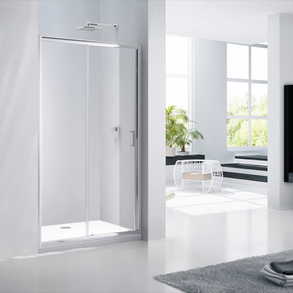 Frontline Aquaglass+ Purity 6mm Sliding Door 1950mm Height - More Dimension Available