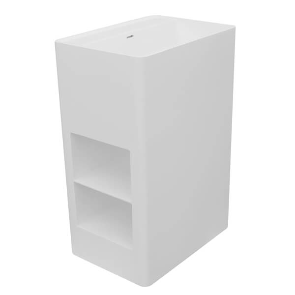 Frontline Cabanes 600mm Floor Standing Basin With Shelves