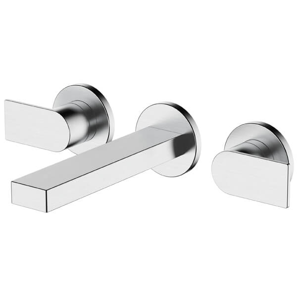 Frontline Strand Wall-Mounted 3 Tap Hole Basin Mixer Tap