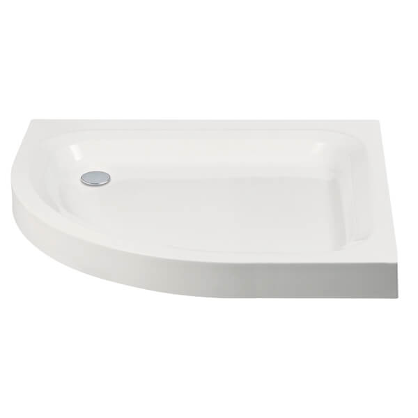 Frontline Aquaglass 80mm Standard Offset Quadrant Shower Tray 900 x 760mm