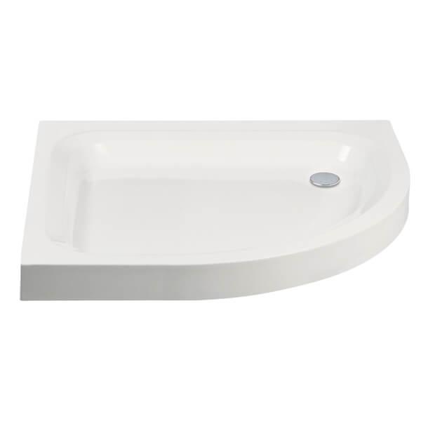 Additional image of Frontline Aquaglass 80mm Standard Offset Quadrant Shower Tray 900 x 760mm
