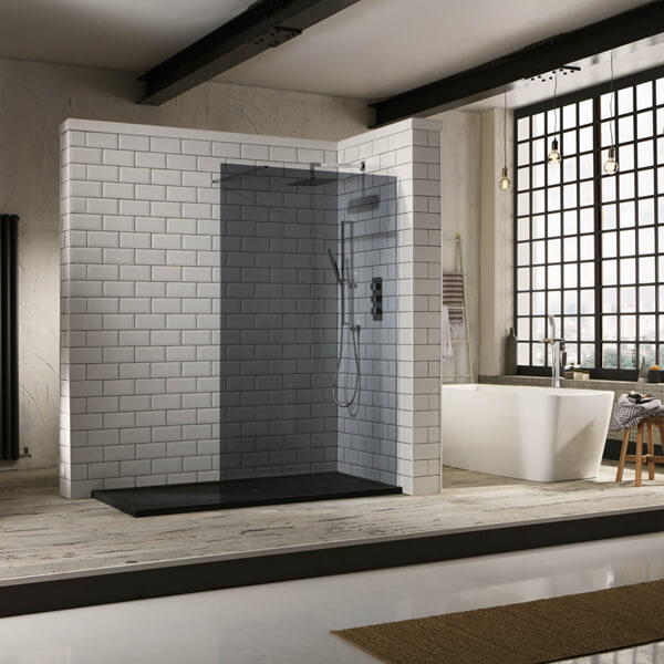 Frontline Aquaglass+ Tinted Walk-In Front Panel 1950mm Height - More Dimension Available