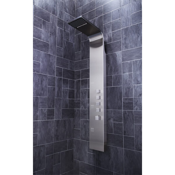 Additional image of Frontline Losan Thermostatic Shower Panel With Built-In Massage Jets