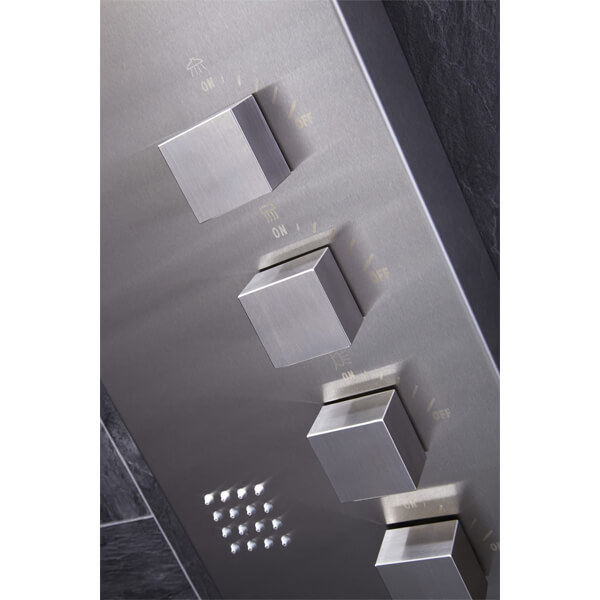 Alternate image of Frontline Losan Thermostatic Shower Panel With Built-In Massage Jets