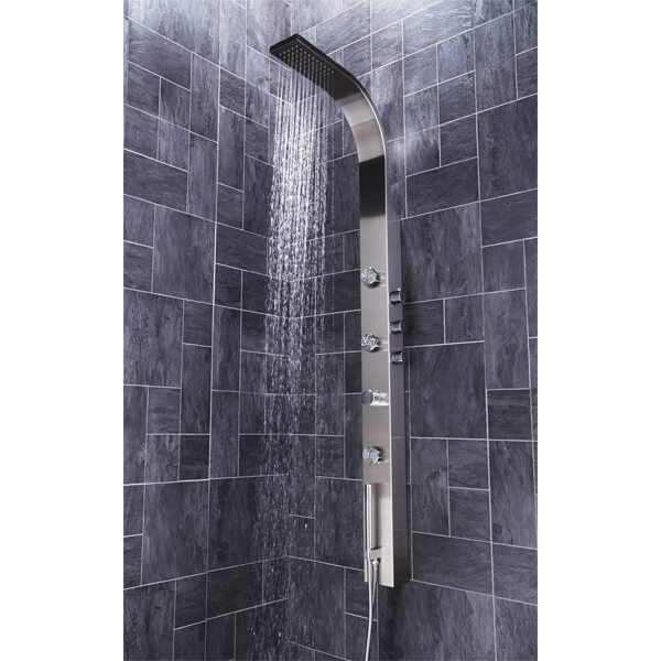 Additional image of Frontline Garda Thermostatic Shower Panel With Built-In Massage Jets