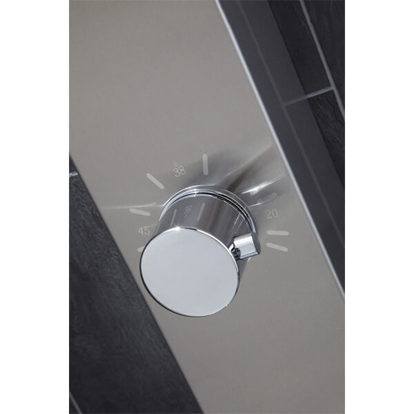 Alternate image of Frontline Garda Thermostatic Shower Panel With Built-In Massage Jets