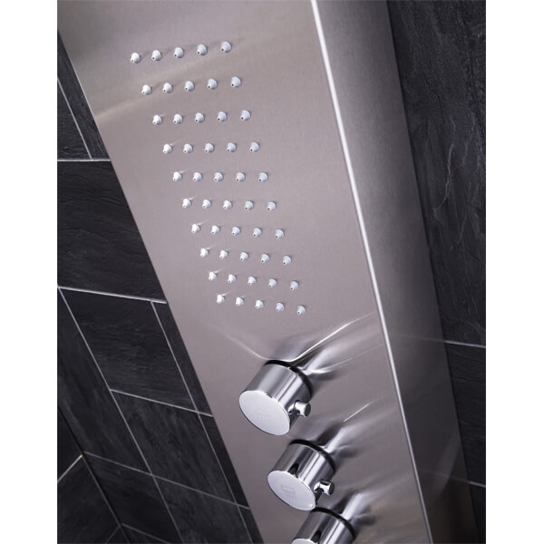 Alternate image of Frontline Dharma Thermostatic Shower Panel With Built-In Massage Jets And Water Blade