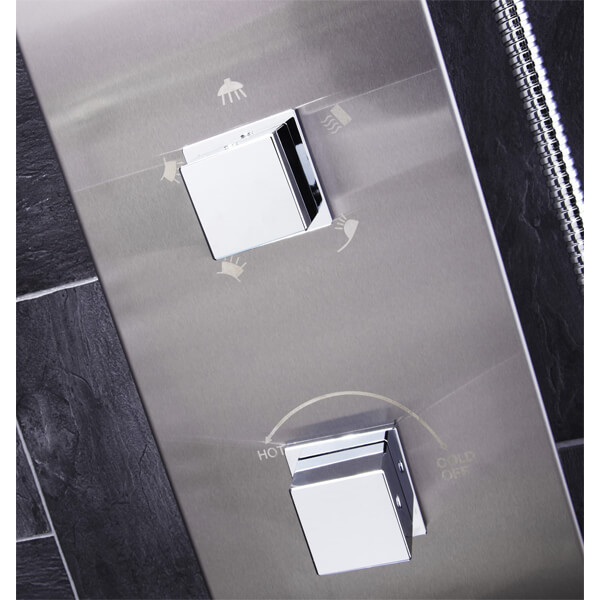 Alternate image of Frontline Modo Thermostatic LED Shower Panel With Massage Jets And Water Blade