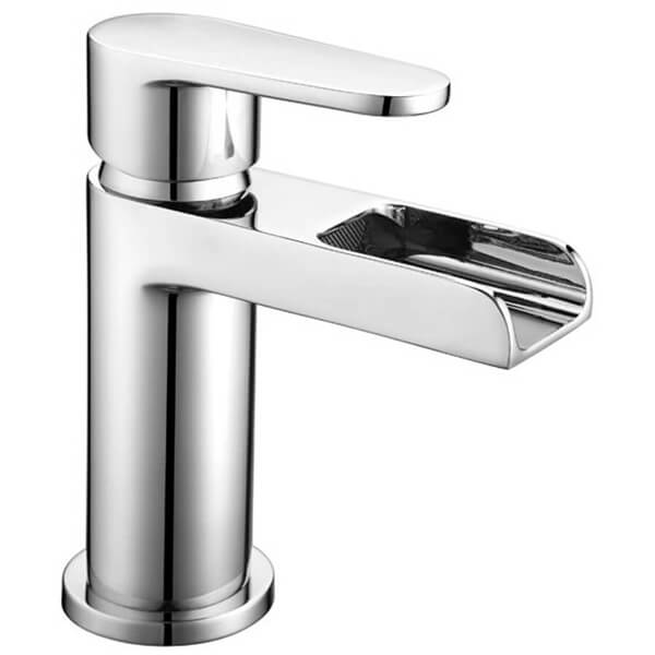 Frontline Ballini Waterfall Basin Mixer Tap With Click-Clack Waste