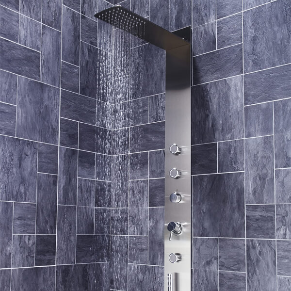 Additional image of Frontline Modique Thermostatic Shower Panel With Movable Massage Jets