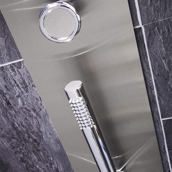 Alternate image of Frontline Modique Thermostatic Shower Panel With Movable Massage Jets