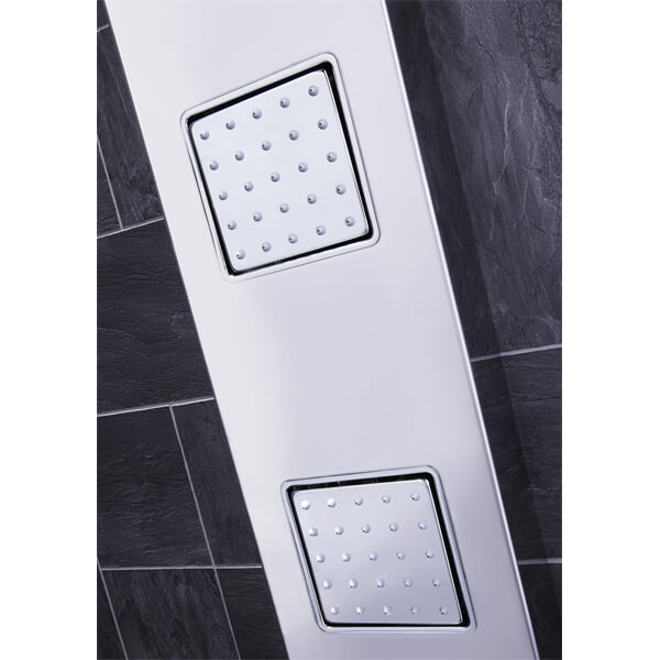 Alternate image of Frontline Pano Thermostatic Shower Panel With Movable Massage Jets And Water Blade