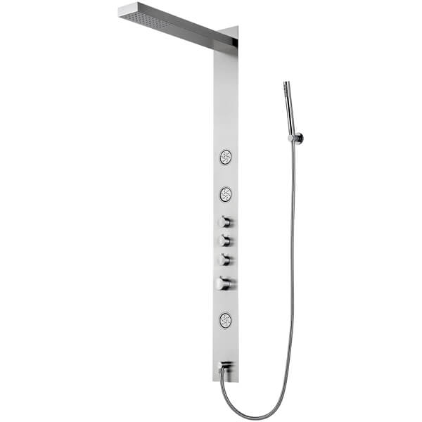 Frontline Trac Thermostatic Shower Panel With Built-In Massage Jets