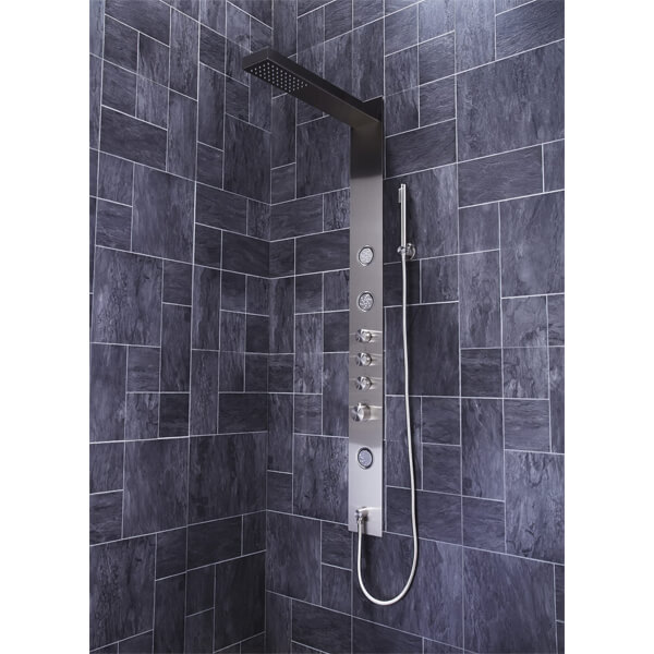 Additional image of Frontline Trac Thermostatic Shower Panel With Built-In Massage Jets