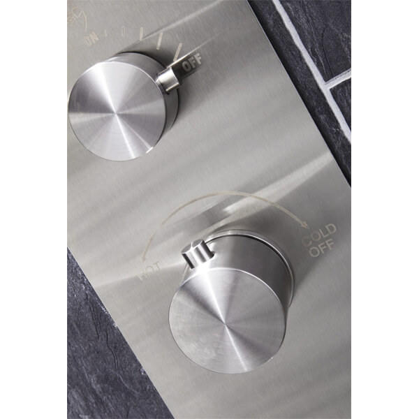 Alternate image of Frontline Trac Thermostatic Shower Panel With Built-In Massage Jets