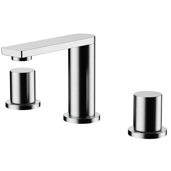 Frontline Sash 3 Tap Hole Basin Mixer Tap With Click-Clack Waste