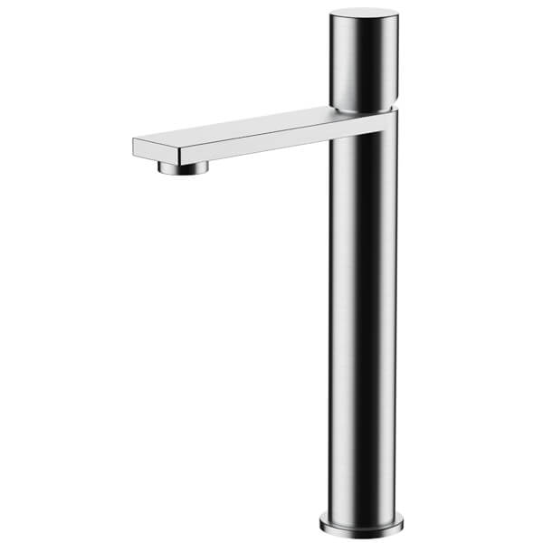Frontline Sash Tall Basin Mixer Tap With Click-Clack Waste