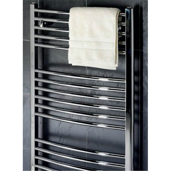 Towelrads Pisa 600mm Wide Curved Towel Rail - More Heights Available