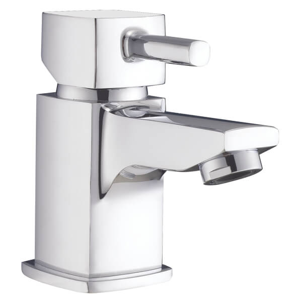 Frontline Cubic Mini Basin Mixer Tap With Click-Clack Waste