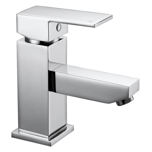 Frontline Cube Chrome Basin Mixer Tap With Click-Clack Waste