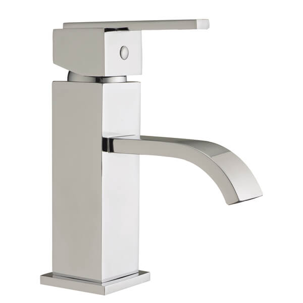 Frontline Blok Basin Mixer Tap With Click-Clack Waste