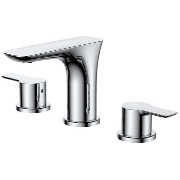 Frontline Vido 3 Tap Hole Basin Mixer Tap With Click-Clack Waste