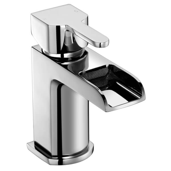 Frontline Modo Waterfall Basin Mixer Tap With Click-Clack Waste