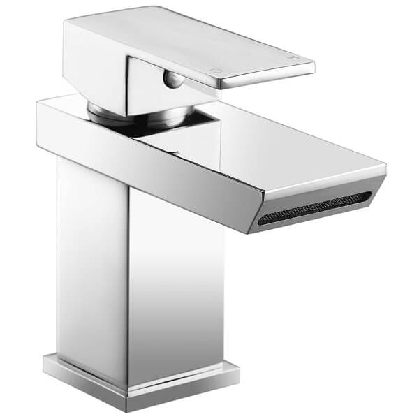 Frontline Sleek Waterfall Basin Mixer Tap With Click-Clack Waste
