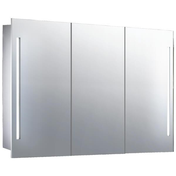 Frontline Valletta 1000 x 600mm Triple Door Mirrored Cabinet